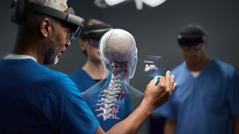 medicals wearing hololens 2 and AI healthcare